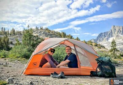 Big Agnes Copper Spur HV UL2 Review-tent-with-two-people-featured