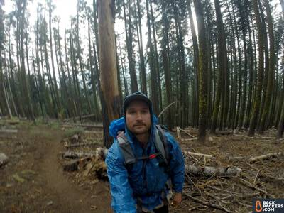 Frogg Toggs Ultra-Lite2 Jacket Review-with-pack-profile