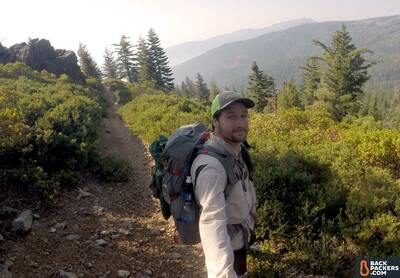 Sierra-Designs-Flex-Capacitor-review-selfie-on-trail-2