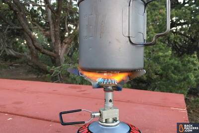 Snow-Peak-LiteMax-stove-review-close-up-of-burning-with-pot