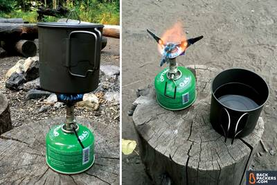 Snow-Peak-LiteMax-stove-review-with-pot-of-water