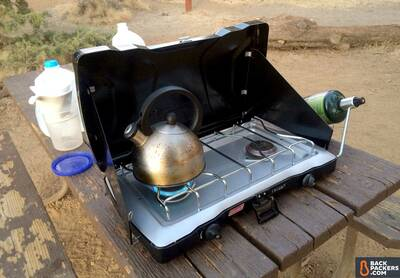 Coleman-Triton-Stove-review-boiling-water-at-lava-beds-national-monument