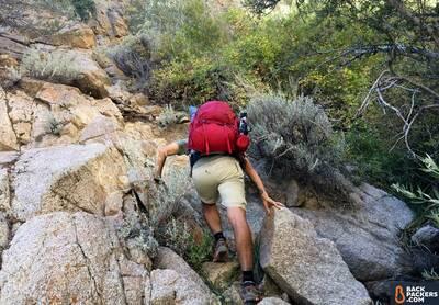 Gregory-Baltoro-65-review-climbing-rocks