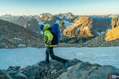 Arc'teryx-Bora-AR-50-Backpack-review-running-through-mountains