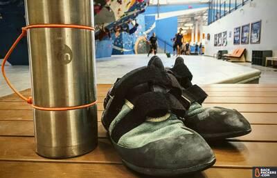 Mizu-V10-review-with-climbing-shoes