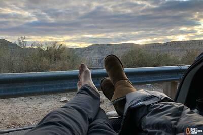 Havasupai Falls Hike in Arizona Hatchback-Sunset