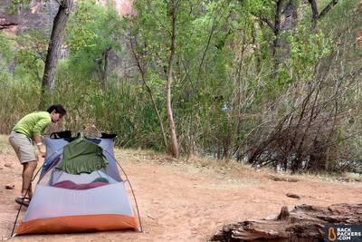 Havasupai Falls Hike in Arizona Havasu Creek Campsite
