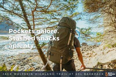 Shi Shi Beach Camping and Hiking in Olympic National Park Jack-Wolfskin-Highland-Trail-XT-60L-Backpack