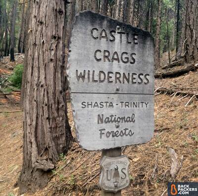 Section Hiking the Pacific Crest Trail Castle Crags to Etna Summit Castle Crags Wildernes Sign
