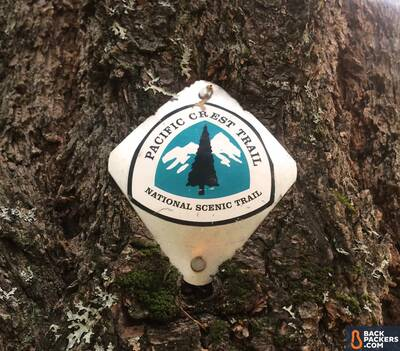 Section Hiking the Pacific Crest Trail Castle Crags to Etna Summit PCT blaze