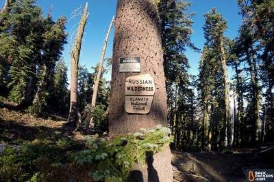 Section Hiking the Pacific Crest Trail Castle Crags to Etna Summit Rusian Wilderness Sign
