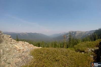 Section Hiking the Pacific Crest Trail Castle Crags to Etna Summit mt-shasta-barely-visible-in-the-distance
