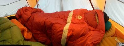Sierra-Designs-Backcountry-Quilt-review-in-tent
