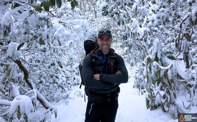 Sierra-Designs-Backcountry-Quilt-review-josh-in-snow