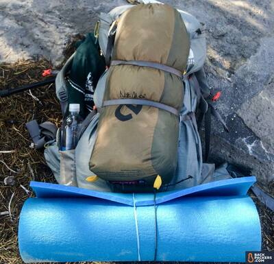 NEMO-Galaxi-2P-review-strapped-to-backpack