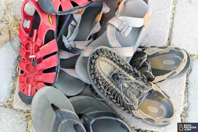best-hiking-sandals-jumble-of-sandals