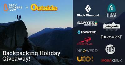 Backpacking Holiday Giveaway logo image