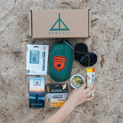 holiday gift guide 2020 The-Nomadik-Welcome-Box-flat-lay-1