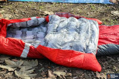 Sierra-Designs-Backcountry-Bed-review-comforter-unfolded