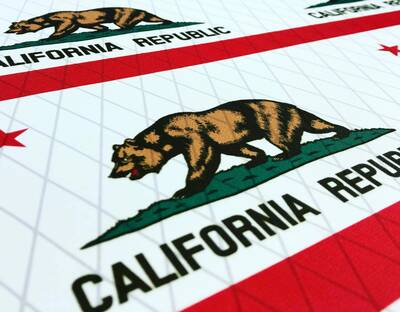 ripstop by the roll California flag on X-PAC material