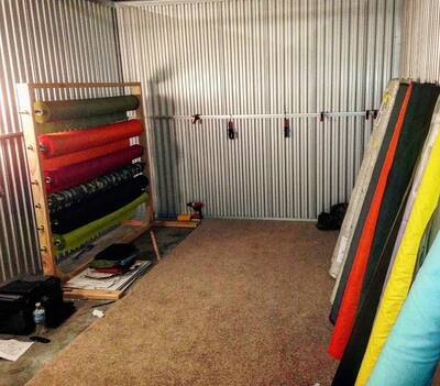 ripstop by the roll Humble beginnings - Storage unit first year in business
