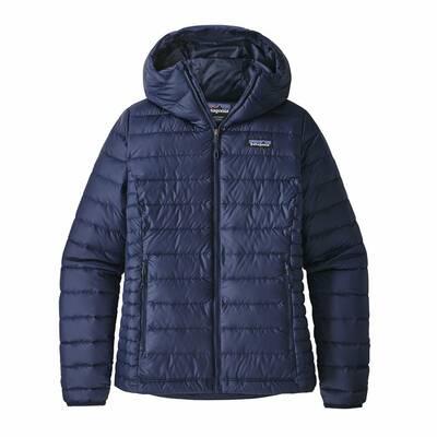 best down jackets Patagonia Down Sweater Hoody women