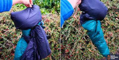 1-1-The-North-Face-Nuptse-trying-to-stuff-in-zippered-pocket