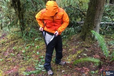 best rain pants Marmot-PreCip-Pants-review-unzippered-top