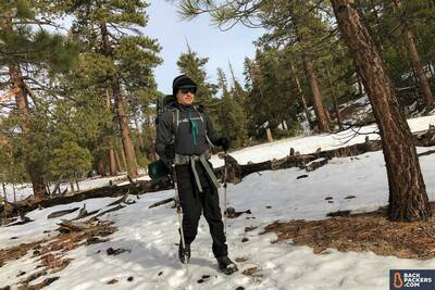 Marmot-Trestles-15-review-backpacking-in-snow