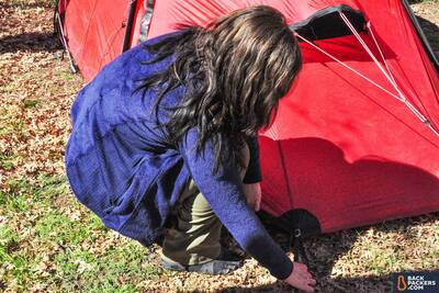 Patagonia-R2-review-setting-up-tent-breathable-side-panel