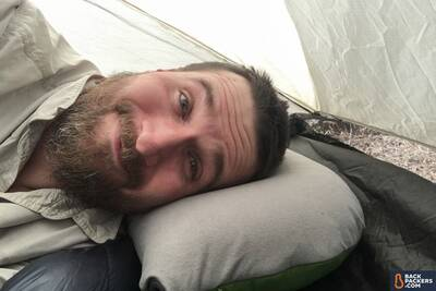 best-backpacking-pillows-Cocoon-Air-Core-Pillow-sleeping!