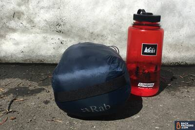 Rab-Microlight-Alpine-review-selfie-packed-size