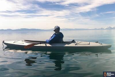 Rab-Microlight-Alpine-review-sleeping-in-kayak