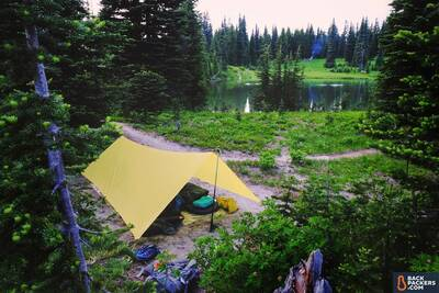 Therm-a-Rest-NeoAir-Uberlite-Review-backpacking-camp-setup-