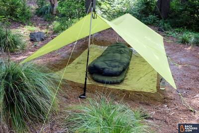 Therm-a-Rest-NeoAir-Uberlite-Review-tarp-tent-backpacking