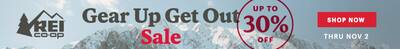 REI gear up and get out sale