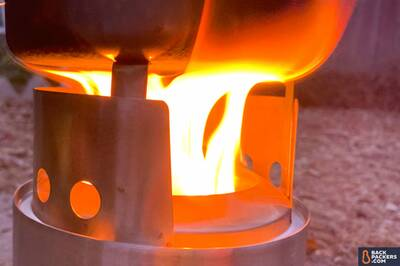 Solo-Stove-Titan-holes-and-flame Portable Wood Burning Camp Stove