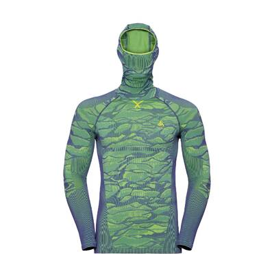Odlo Performance Blackcomb Base Layer Shirt with Face Mask