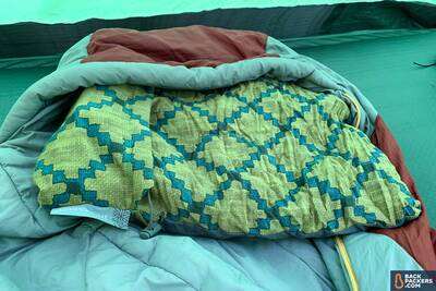 Therm-a-Rest-Compressible-Pillow-review-in-sleeping-bag