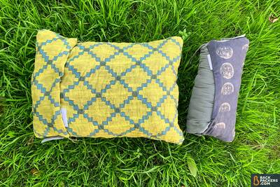 Therm-a-Rest-Compressible-Pillow-review-rolled-up-vs-expanded