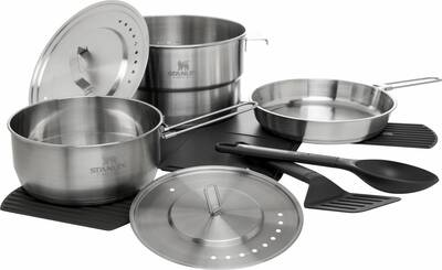stanley Adventure Even-Heat Camp Pro Cook Set Stainless Steel (1)