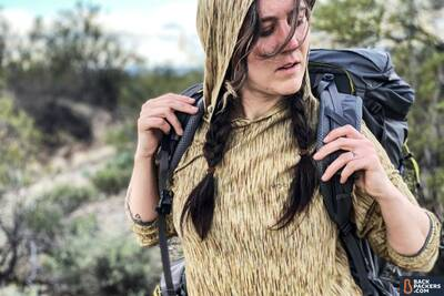 REI-Flash-55-carrying-the-backpack-s-curve-shoulder-straps