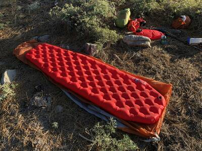 Big Agnes Insulated AXL Air Review fully inflated