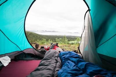 camping morning view evo