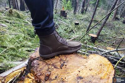 Lems Boulder Boots review Boot_Profile_on_stump
