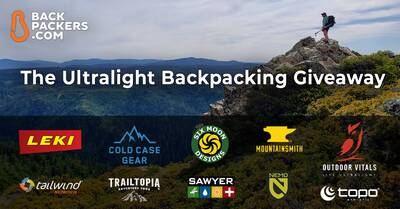 ultralight backpacking giveaway 2020