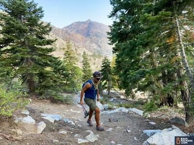 Patagonia-Quandary-Shorts-hiking-uphill