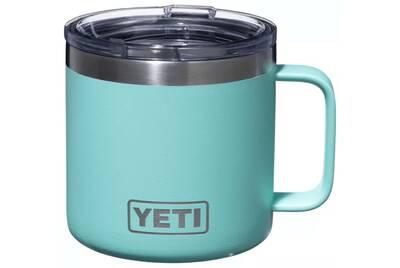 yeti rambler mug seafoam green