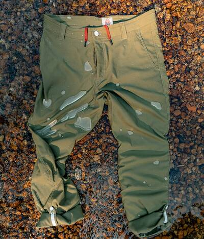 LIVSN EcoTrek Trail pants water resistance square