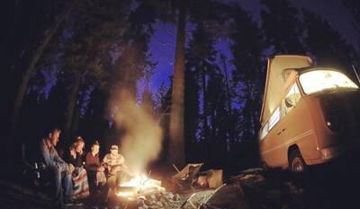 Santa Barbara Soups cooking by campfire
